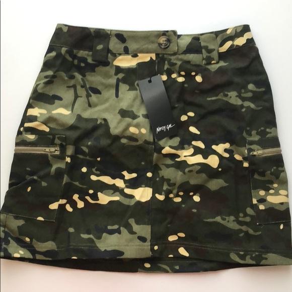Nasty Gal Dresses & Skirts - NWT NASTY GAL camo skirt